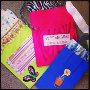 upcycled gift bags Terri O