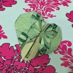 origami currency heart