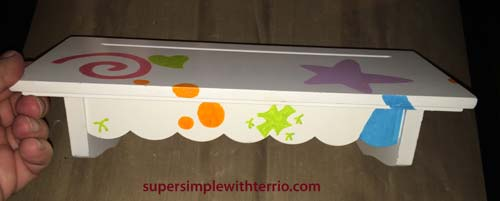 Super Simple Painted Shelf