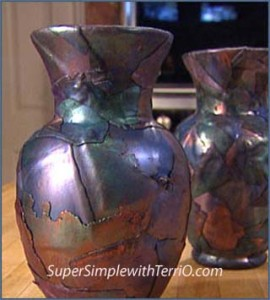 Terri Ouelette simple raku vase